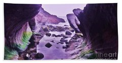 Beach Towel featuring the photograph Swirl Rocks 2 by John Williams
