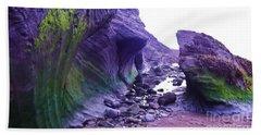Beach Towel featuring the photograph Swirl Rocks by John Williams