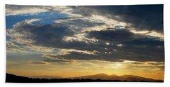 Swirl Sky Landscape Beach Sheet by Matt Harang