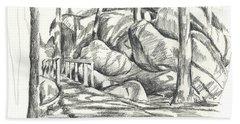 Swirling Cast Shadows At Elephant Rocks  No Ctc101 Beach Sheet