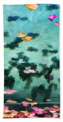 Swirling Leaves And Petals 2 Beach Towel