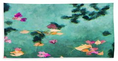 Swirling Leaves And Petals 6 Beach Towel