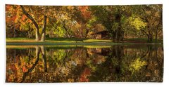 Sycamore Reflections Beach Towel by James Eddy