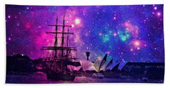 Sydney Harbour Through Time And Space Beach Towel