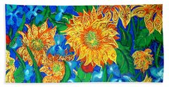 Symphony Of Sunflowers Beach Towel