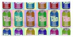 Tab Ode To Andy Warhol Repeat Horizontal Beach Sheet