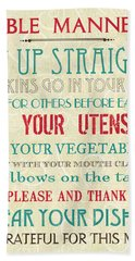Table Manners Beach Towel