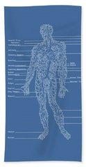 Table Of Arteries Beach Towel