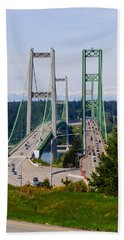 Tacoma Narrows Bridge Beach Towel