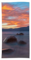 Tahoe Burning Beach Towel by Jonathan Nguyen