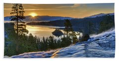 Tahoe Sunrise Beach Towel