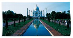 Taj Mahal Agra India Beach Towel