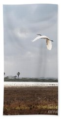 Beach Sheet featuring the photograph Take Off by Erika Weber