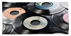 Take Those Old Records Off The Shelf Beach Sheet by Athena Mckinzie