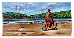 Taking A Ride  Beach Towel