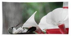 Baby Hummingbird Taking It Easy Beach Sheet