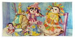 Talavera Tea With Friends Beach Towel