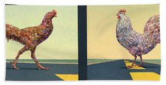 Tale Of Two Chickens Beach Towel