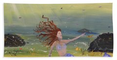Talking To The Fishes Beach Towel by Pamela  Meredith