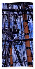 Tall Ship Rigging Of The Hms Surprise Beach Towel
