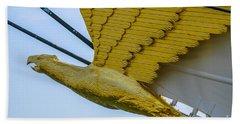 Tall Ship Uscg Barque Eagle Masthead Beach Sheet