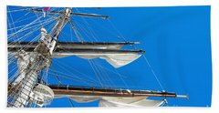 Tall Ship Yards Beach Towel