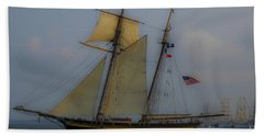 Tall Ships In The Lowcountry Beach Sheet by Dale Powell
