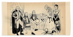 Beach Towel featuring the drawing Tammy Meets Betsy Ross by Reynold Jay