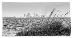 Tampa Across The Bay Beach Towel by Marvin Spates