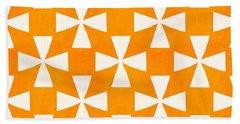 Tangerine Twirl Beach Towel