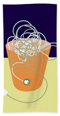 Tangle Of Old-fashioned Plugs And Cords Beach Towel