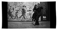 Tango Dancers In Buenos Aires Beach Sheet by Venetia Featherstone-Witty