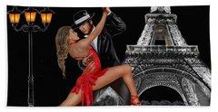 Tango En Paris Beach Towel by Glenn Holbrook