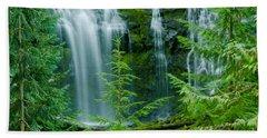 Pacific Northwest Waterfall Beach Sheet