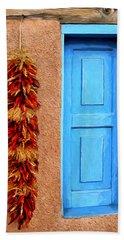 Taos Blue Door Beach Sheet