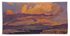 Taos Gorge - Pastel Sky Beach Towel