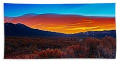 Taos Sunrise X Beach Towel