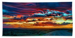 Taos Sunset Iv Beach Towel
