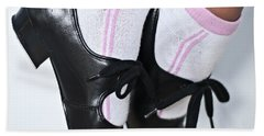 Tap Dance Shoes From Dance Academy - Tap Point Tap Beach Towel
