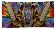 Tapestry Of Gods - Chicomecoatl Beach Sheet