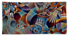 Tapestry Of Gods - Tlaloc Beach Towel