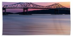 Tappan Zee Bridge Sunset Beach Towel