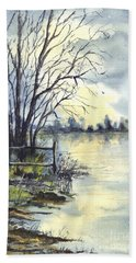 Moonlight Reflections In Loch Tarn In Scotland Beach Towel