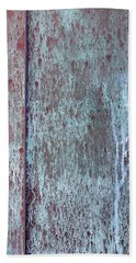 Beach Towel featuring the photograph Tarnished Tin by Heidi Smith