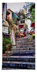 Taormina Steps Sicily Beach Sheet
