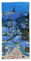 Tarpon Alley In0019 Beach Towel by Carey Chen