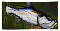 Tarpon Fish Beach Towel