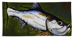 Tarpon Fish Beach Towel
