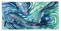 Tarpon Frenzy Beach Towel