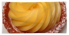Tarte Citron Dessert Beach Towel